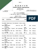 Summit Import September Sales List