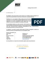 Carta de Presentacion Empresa servicios