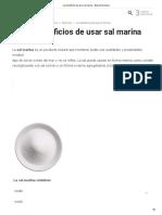 Los Beneficios de Usar Sal Marina
