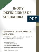 Terminos y Definiciones de Soldadura