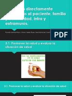 Funciones Directamente Vinculadas Al Paciente