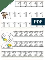 Grafomotricidad Numeros 1 Al 6 Uno a Uno