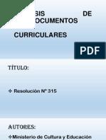 Análisis de Documentos Curriculares