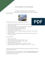 Cálculo de Sección de Conductor Instalación Fotovoltaica