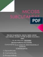 MICOSIS-SUBCUTANEASs