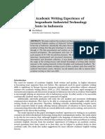 Maharsi - Undergrad Acad Writing in Industrial Technology