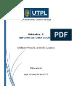 Informe Labor Social Stefanie Jaramillo Cabrera
