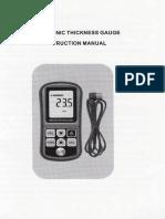 Manual Medidor de Espesores Gm100