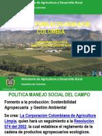Cadena Productiva Agricultura Ecologica Resumen Mapa Tecnologico
