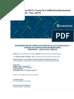 Calendario Cursos Dat y Cursos de Certificacic3b3n Internacional Oracle