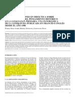 Ethier Et Al. - Las Investigaciones en Didáctica Sobre El Desarrollo Del Pensamiento Histórico
