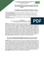 Qualidade Do Milho Consorciado Com Urochloa Ruziziensis Em Dois Espaçamentos e Modalidades de Semeadura Em Sistema Plantio Direto