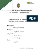 16803622 Caracteristicas de Amplificadores Operacionales en C C