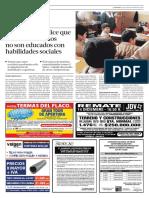 U. de Harvard Dice Que Escolares Chilenos No Son Educados Con Habilidades Sociales