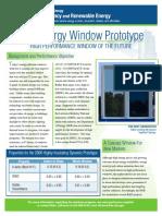 Zero Energy Window DOE-FactSheet