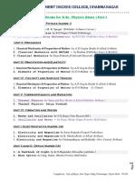 B. Sc. PHYSICS Useful List of Books