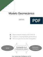 Modelo Geomecánico (MEM)