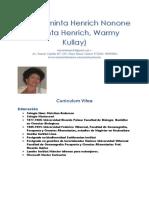 María Aminta Henrich Nonone Curriculum