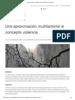 Una Aproximación Multifactorial Al Concepto Violencia _ Clepios