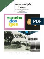 Letras - 10 - Rancho Dos Ipês - 1967