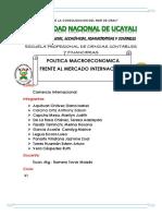 Comercio Internacional- Politica Macroeconomica