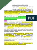 Catorce Mentiras en La Historia Oficial Del Perú