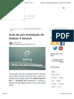 Pós Instalação Debian 9