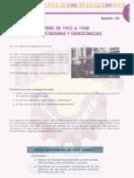 EL PERÚ DE 1933 Y 1948 -DICTADURAS Y DEMOCRACIAS
