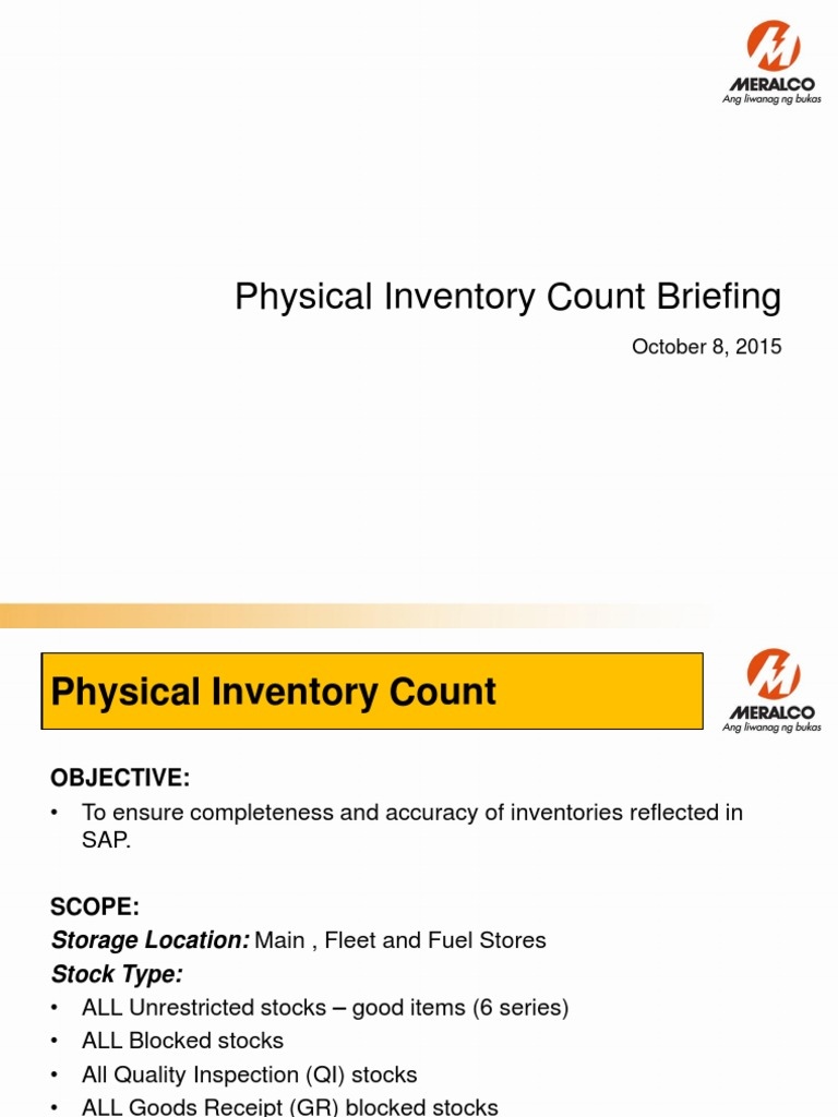 1 physical inventory count presentation actual count pdf scrap