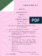 Bsc Mathematics Major Paper