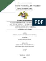 Proyecto de Tesis - Análisis de riesgos, basado en la norma OHSAS 18001, sobre la producción de mango congelado en una empresa agroexportadora