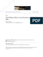 The Holder in Due Course Doctrine as a Default Rule