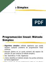 Investigación de Operaciones Capitulo 2 Algoritmo Simplex