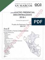 UNMSM - SIMULACRO PRESENCIAL DESCENTRALIZADO 2018 - I (ÁREA E) pdf.pdf