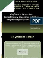 5. Mtro. Javier López Sánchez - Competencias y Situaciones Auténticas de Aprendizaje en El Aula Diversa