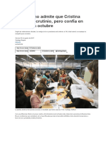 El Gobierno Admite Que Cristina Gana El Escrutinio