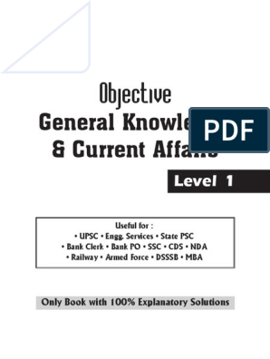 Objective General Knowledge _ C - Disha Experts - Level 1 | Indus