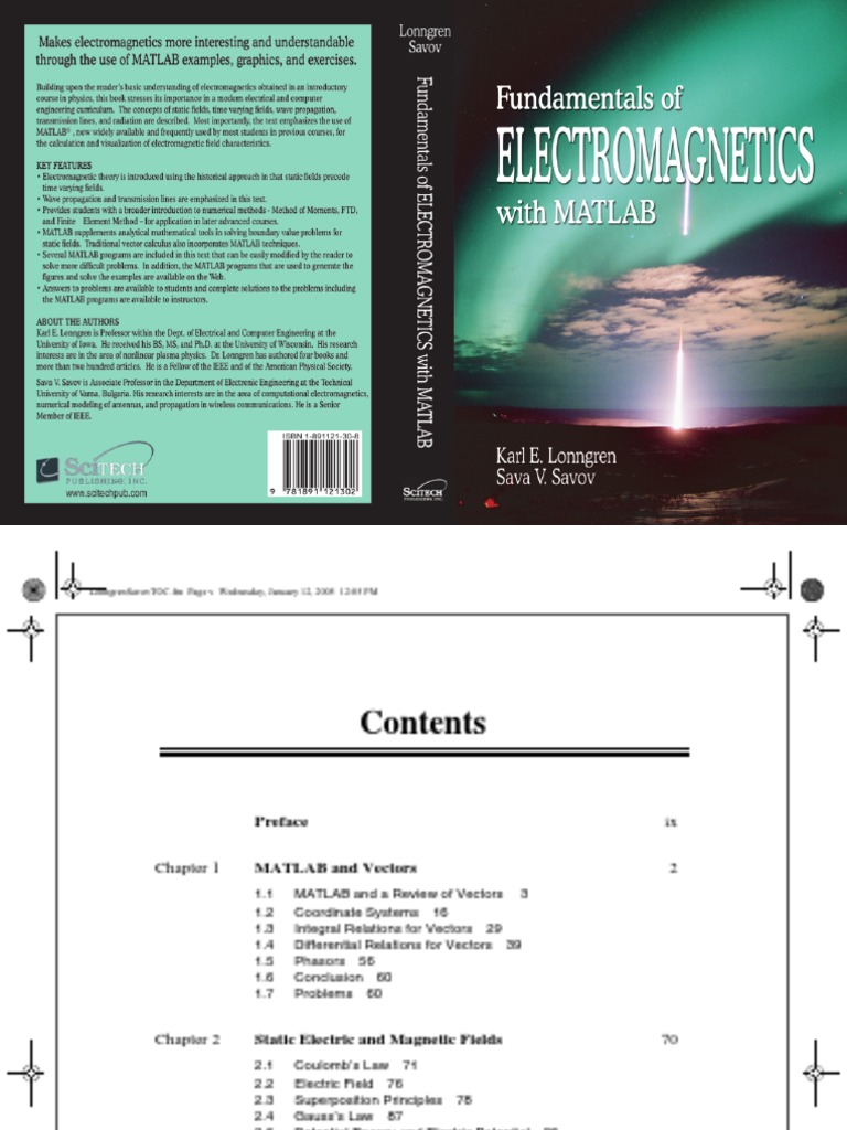 Fundamentals of electromagnetics with matlab lonngren savovpdf fandeluxe Choice Image