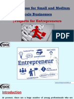 Business Ideas for Small and Medium Scale Businesses |Projects for Entrepreneurs