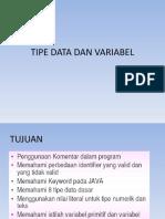 2 Tipe Data Dan Variabel