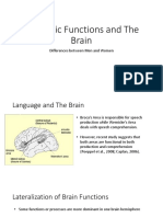 Linguistic Functions and the Brain