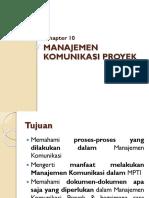 Chapter 10 Manajemen Komunikasi Proyek