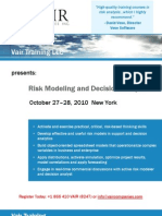 Risk Modeling and Decision Analysis Course, NYC - The Vair Companies