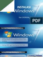 Instalasi Windows 7