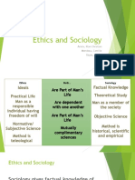 Ethics and Sociology