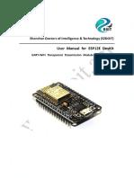 User Manual for Esp 12e Devkit