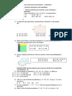 1ª Lista de Exercicios de Matemática