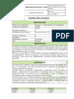 Profundización en Investigación - Formato de Plan de Asignatura