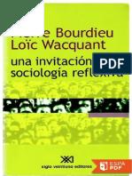 Una Invitacion a La Sociologia Reflexiva - Loic Wacquant