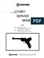 Crosman Mark I and 2 Factory Service Manual Year 1966